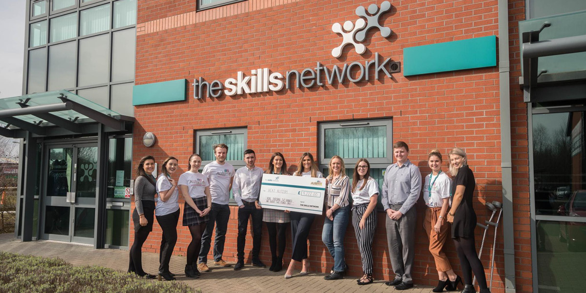 The Skills Network raise over £9,000 for Beat Autism