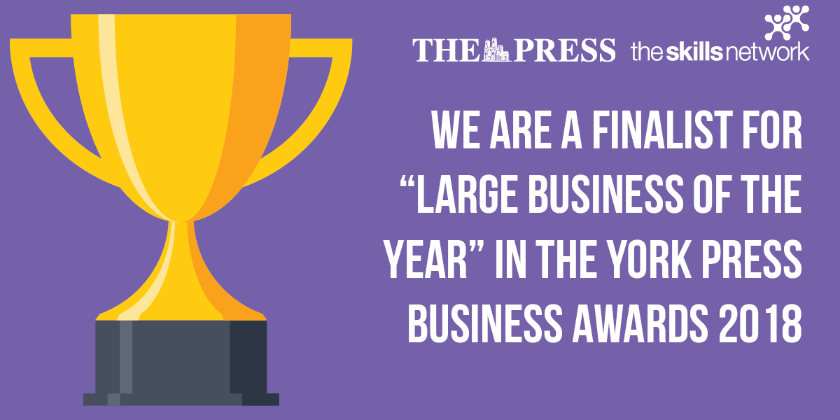 The Skills Network Shortlisted for 'Large Business of The Year' Award At The York Press Business Awards