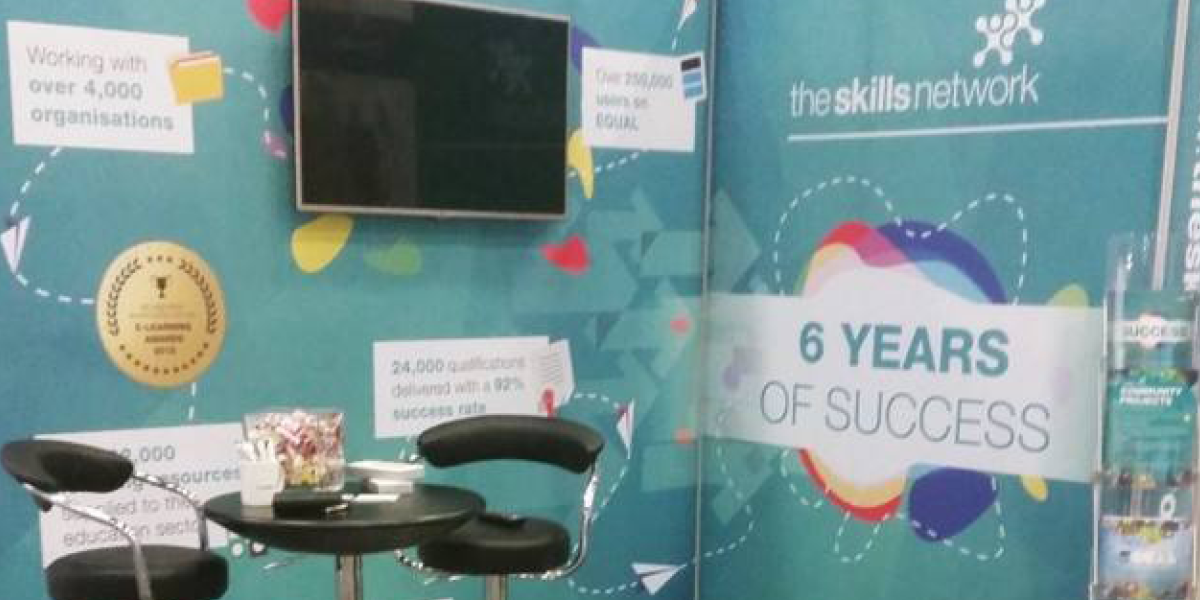 The Skills Network team exhibit at AoC in Birmingham